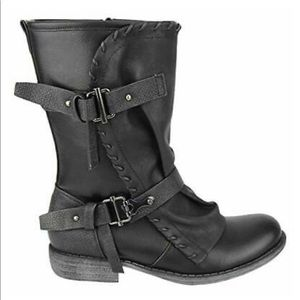 Shoes - Vegan leather motorcycle boots
